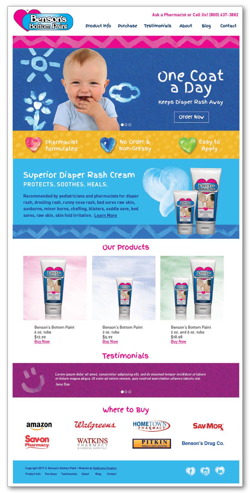 Diaper Rash Cream Website