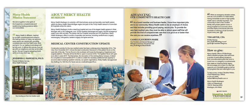 Hospital Capital Campaign Booklet
