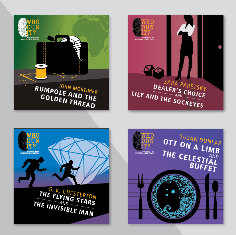 Detective and attorney audio book covers