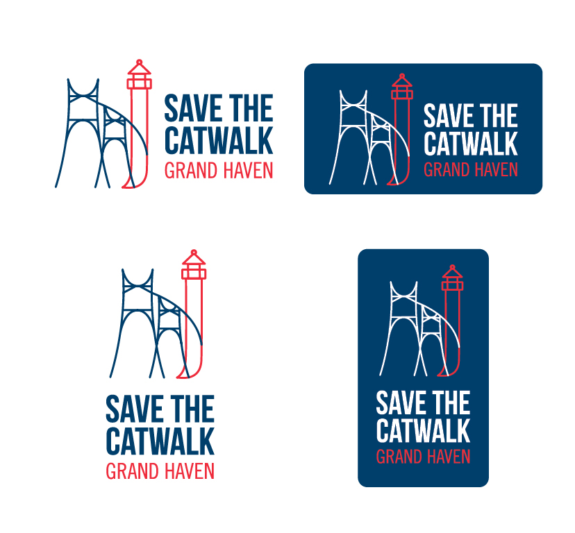 Save the Catwalk Logo Design