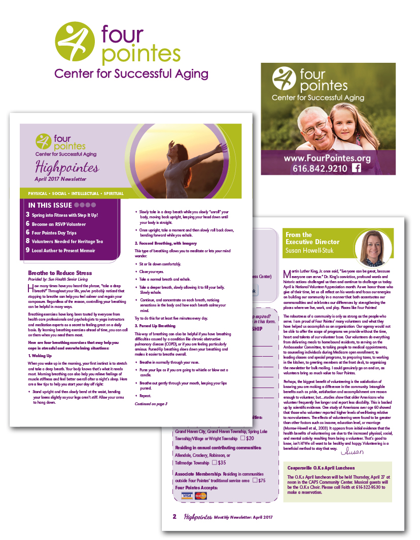 Senior Center Logo and Newsletter Design