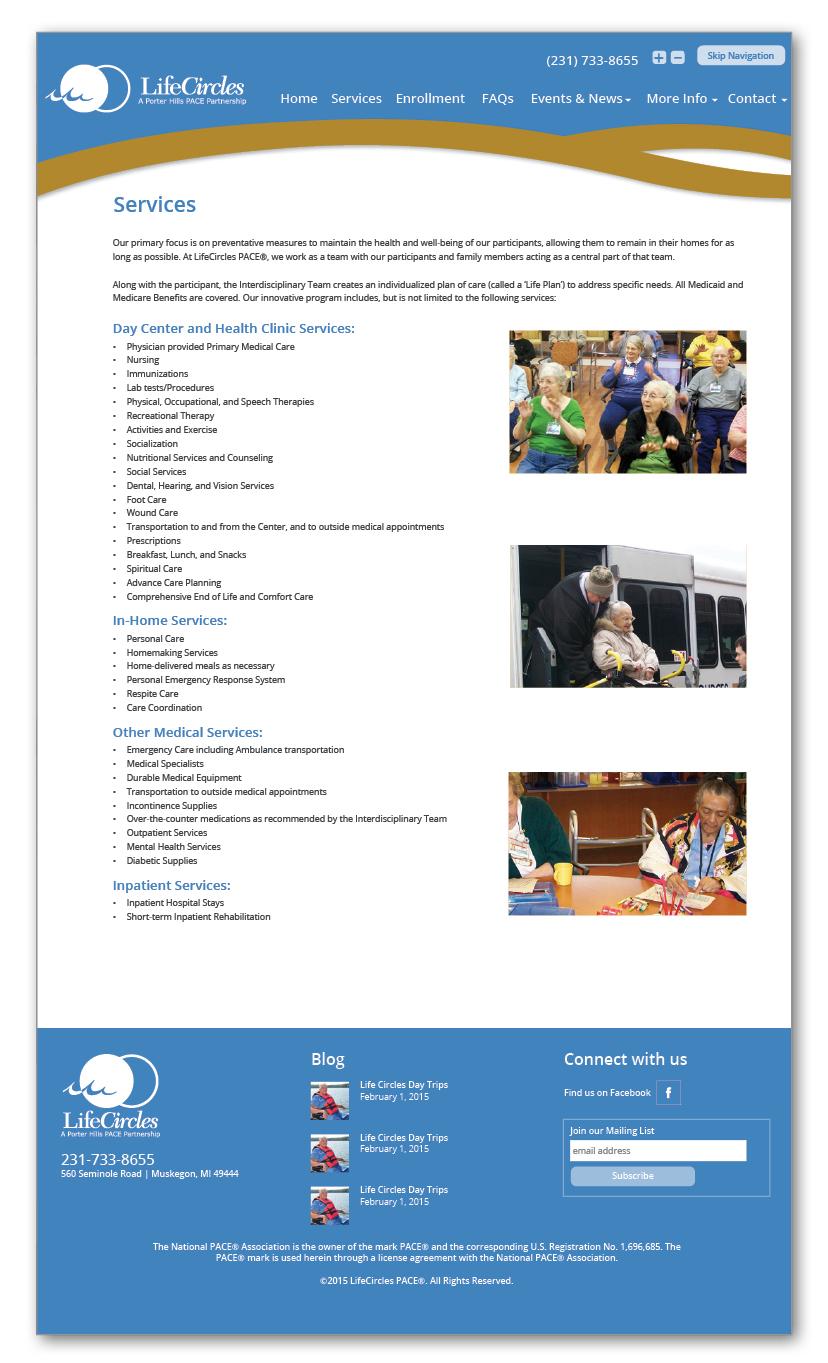 Senior Center Website