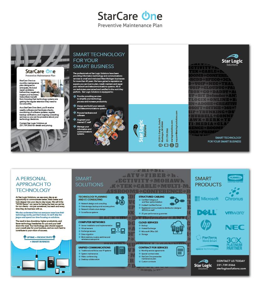 Technology Company logo and brochure design